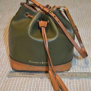 Dooney & Bourke Claremont Drawstring Olive Bag